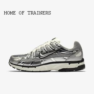 Nike-P-6000-Plateado-Metalico-Vela-Negro-Metalico-Plata-para-Hombre-Zapatillas-Todos-Los-Tamanos