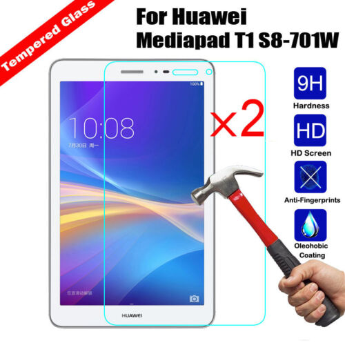 2Pcs Premium Tempered Glass Screen Protector For Huawei T1 T2 T3 M1 M2 M3 Tablet