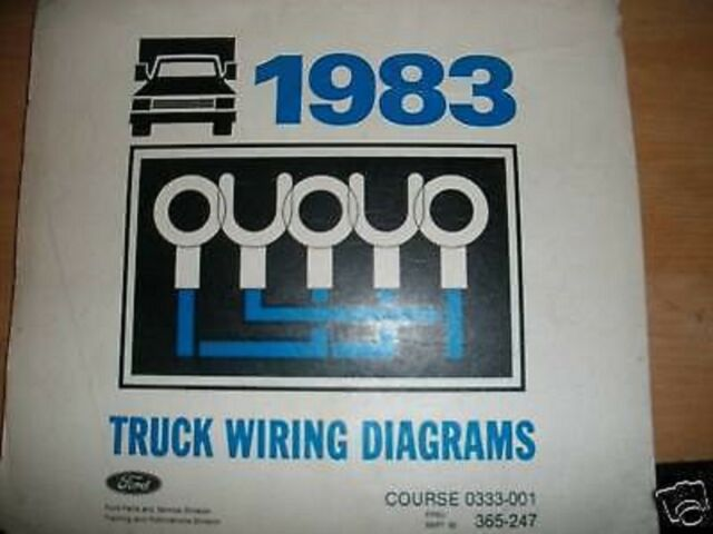 1983 Ford Econoline Wiring Diagrams Manual Set Oem