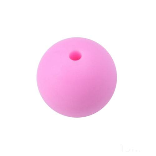 Baby 20pcs  BPA Free Silicone Teething Necklace Nursing Teether Round Beads Chai