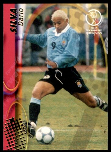 113 Panini WORLD CUP 2002 Tarjeta-Dario Silva Uruguay no