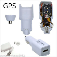 Mini White Autos Truck Charger GPS Locator GPRS Real Time Tracking Device System