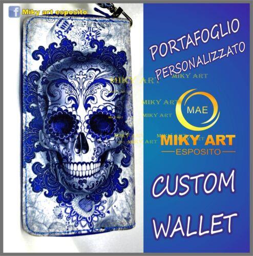 Portefeuille Skull Portafoglio Wallet Portfel Teschio Портфель qSMVzUp