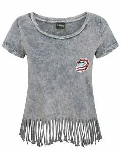 The-Rolling-Stones-Women-039-s-Fringe-T-Shirt