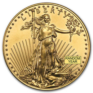 Random Year 1 oz Gold American Eagle Coin