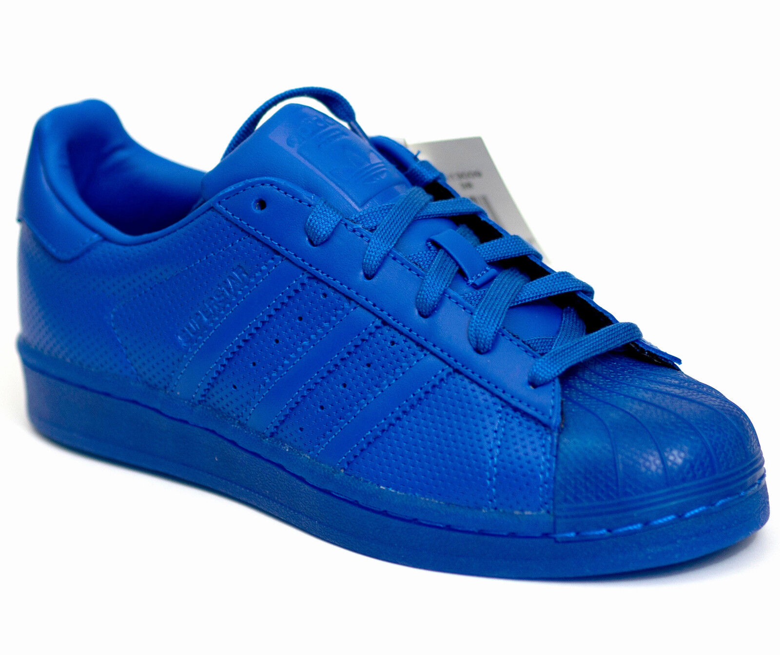 ADIDAS Originals Superstar Adicolor 37 Low     in Pelle MIX BLU NUOVO 0ab4a4
