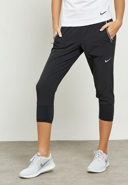 Nike Flex Swift Donna Pantaloni Lunghi da Jogging Capri - Corsa Fitness M