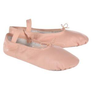 Pink-leather-ballet-shoes-Split-Sole