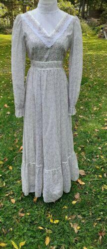 Gunne Sax FABULOUS Victorian high collar gown dres