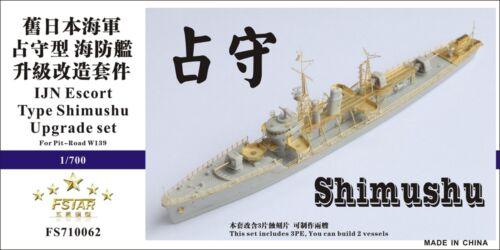 Five Star 1//700 FS710062 IJN Escort Type Shimushu for Pit-road