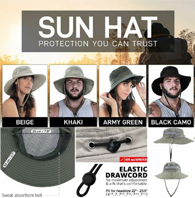 7dedd187b GearTOP Fishing Hat, Safari Cap with UPF 50 Sun Protection for Men and  womens