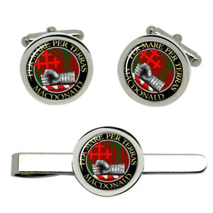 Macdonald-of-Sleat-Scottish-Clan-Cufflinks-and-Tie-Clip-Set