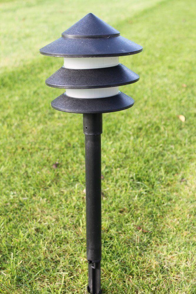 Set of 6 Low Voltage Pagoda Lights Pathway Lighting Low Energy Garden Lighting EU 2 Pin Plug