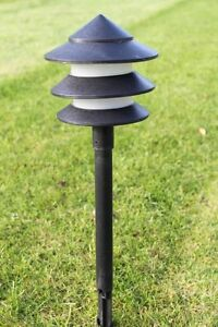 Set Of 6 Low Voltage Garden Pagoda Lights With Transformer EBay
