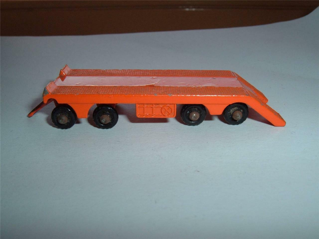 MATCHBOX NO 16B ATLANTIC TRAILER 8 WHEELER  IN orange USED CONDITION SEE PHOTOS