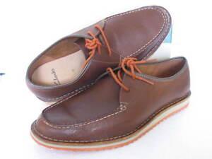 zapatos varios Clarks cuero Brown tamaños Edge de Nuevos Maxim suave dYn8vw