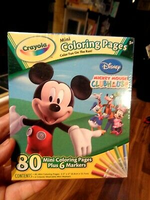 Disney Mickey Mouse Clubhouse Crayola 80 Mini Coloring ...