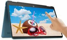 """HP 14"""" tela sensível ao toque 2-In - 1 Intel 2.8GHz 64GB Ssd 4GB Ram Chromebook Webcam verde-azulado"""