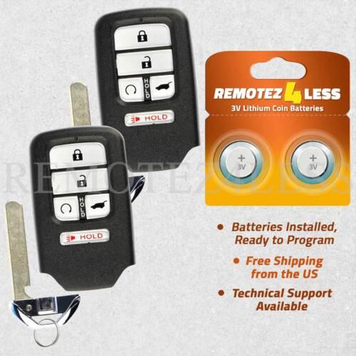 2 Remote For 2017 2018 Honda Civic Keyless Entry Car Key Fob