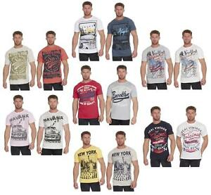 Mens-Plus-Big-Size-American-Design-Printed-Summer-T-Shirt