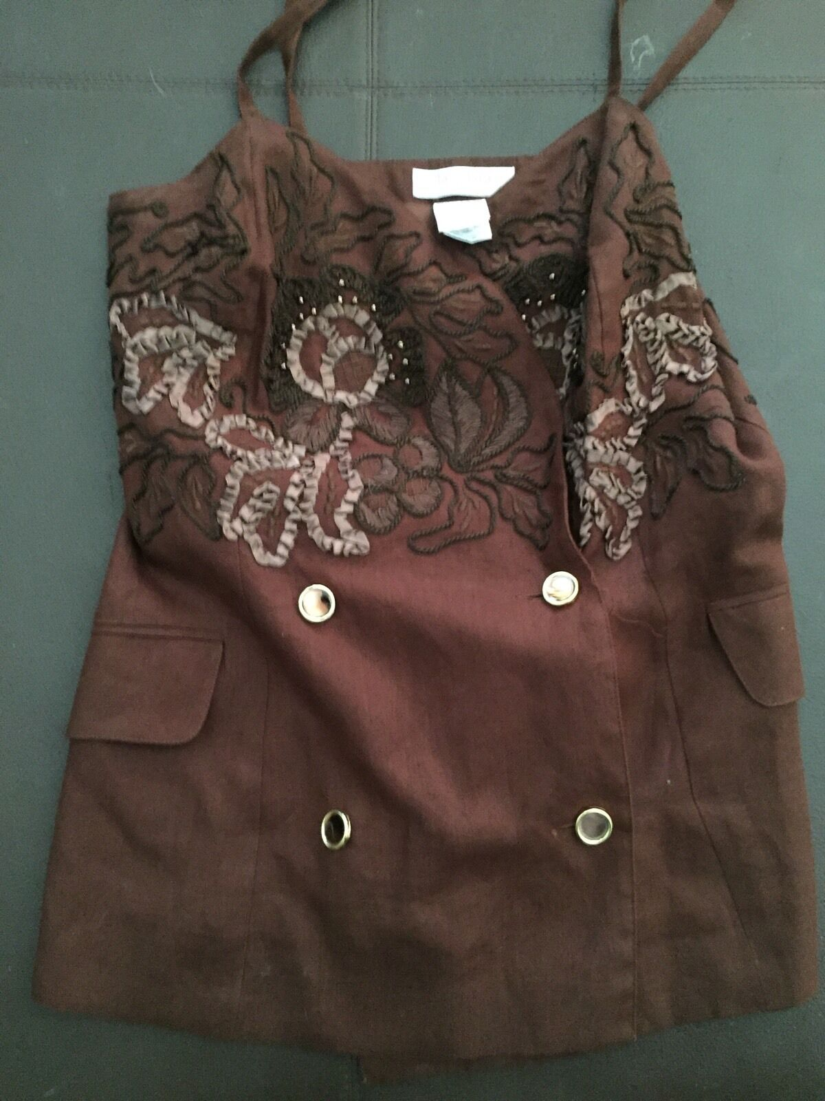 New Max Mara Linen  Top Made In   10 Us