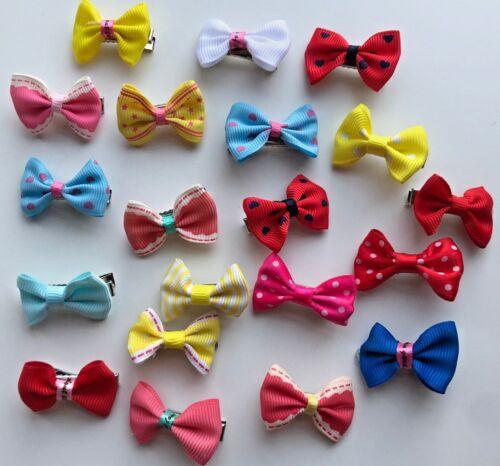 Dolls Hair Clip Mini Bows Baby Girls 20pcs Kids