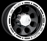 Cpp Ion Alloys Style 174 Wheels Rims 18x9, 8x6.5, Black With Beadlock Look