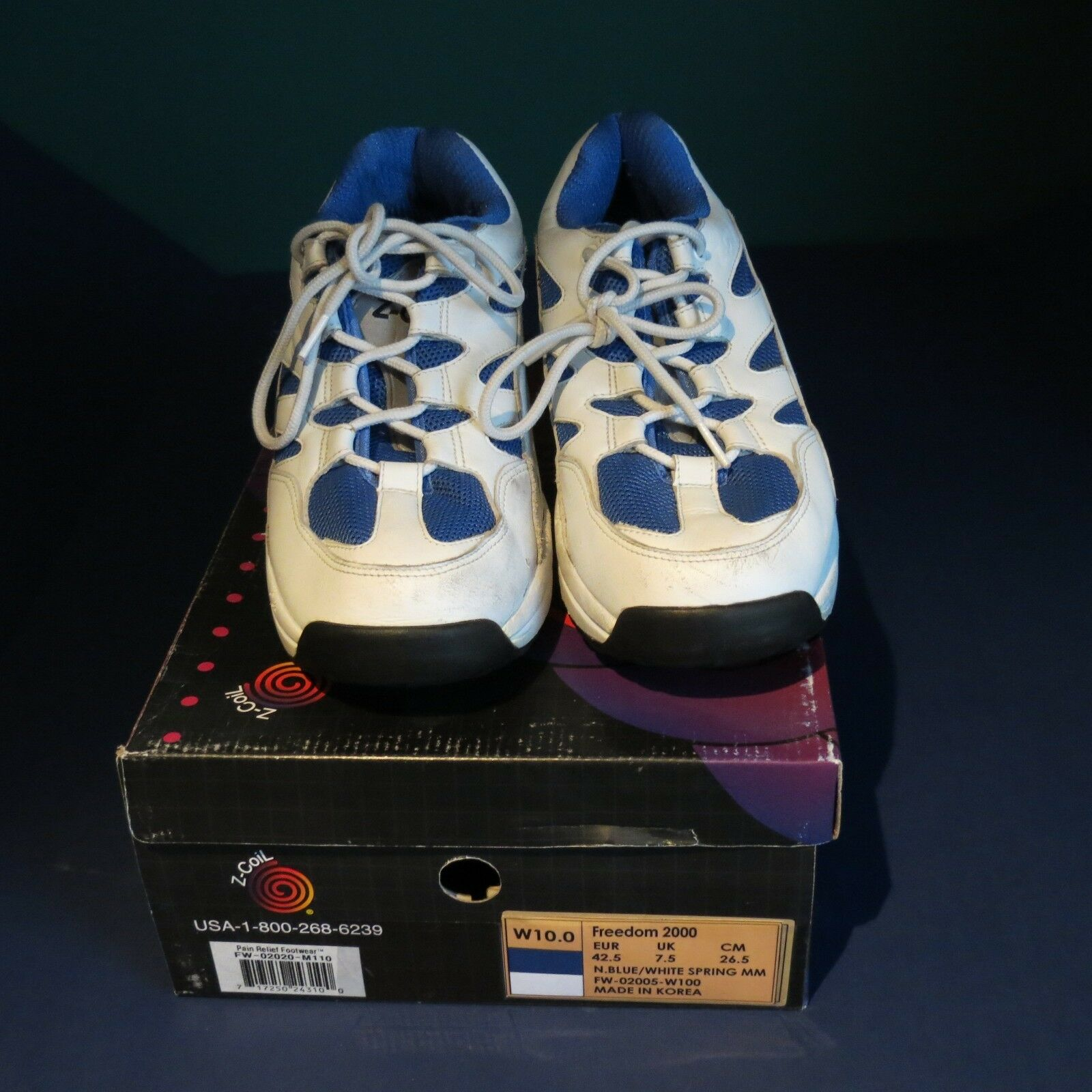 EUC relief Z-coil pain relief EUC footwear damen 10 royal Blau freedom used 2 weeks 50d58e