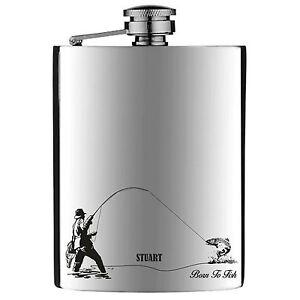 Personalised Engraved Fishing Hip Flask stainless Steel 6oz 5JafPJiQ-09115224-645357616