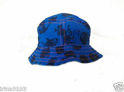 Next Baby Boy`s Sun Protection Fisherman Hat Print Blue Size 3-6mths