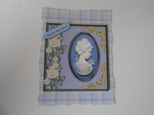 PACK 2 LILAC CAMEO EMBELLISHMENTS FOR CARDS//CRAFTS-SOMEONE VERY SPECIAL