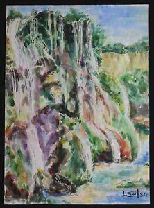 Louis-Goiffon-1915-Cascade-Aquarell-Dijon-Bourgogne-Claudot-Andre-paste