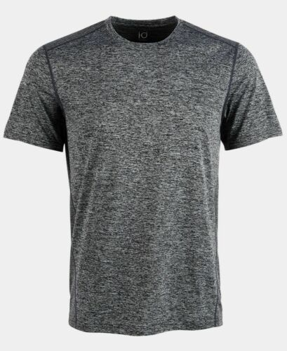 $75 ID Ideology Men/'s Gray Short-Sleeve Crew-Neck Mesh Training T-Shirt Size L