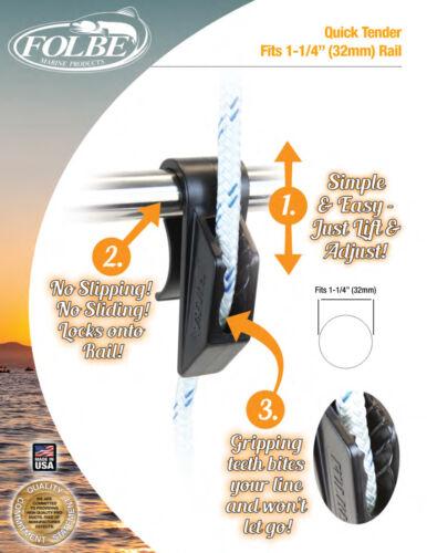 """Folbe 1.25/"""" 32mm Rails Boat Fender Adjuster Bumper Hanger Mooring Line Clip F041"""