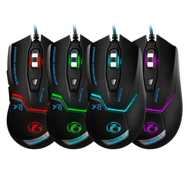 6D USB 3000DPI Mice LED Optical Wired Gaming Game Mouse For PC Laptop Gamer Cool