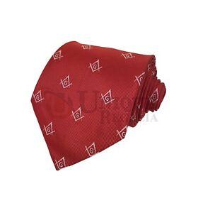 e8b1f506e00b Masonic Craft Masons Silk Tie Embroided Square Compass   G Red Blue ...