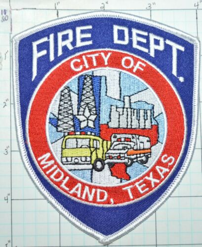 CITY OF MIDLAND FIRE DEPT PATCH Details about  /TEXAS