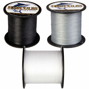 Hercules-300-500-1000m-Black-White-Gray-PE-Weave-Extreme-Braided-Fishing-Line