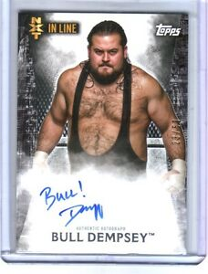 WWE-Bull-Dempsey-2015-Topps-Undisputed-NXT-In-Line-On-Card-Autograph-SN-23-of-50