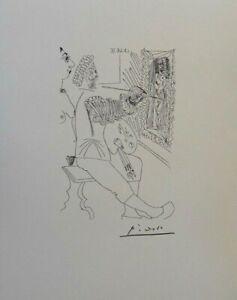 Pablo Picasso (Según ) - Pintura Desnudo - Litografía Erótica Firmada, 1200ex