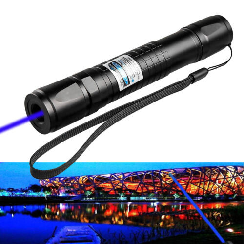 Tactical 20 Miles Blue Purple 405nm Laser Pointer Pen Visible Beam+18650+Charger