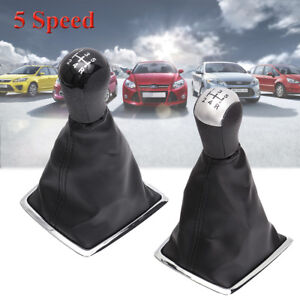 5-Speed-PU-Leather-Gear-Shift-Knob-Gaiter-Boot-Cover-For-Ford-Focus-MK2-05-08