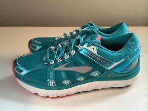 NEW-Brooks-Transcend-2-Women-039-s-Running-Shoes-Turquoise-Orange-Sz-8