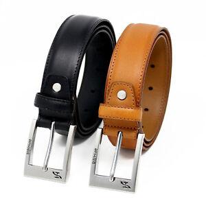 50460665d StarHide Men Top Grain Real Leather Belt Detachable Alloy Single Pin ...