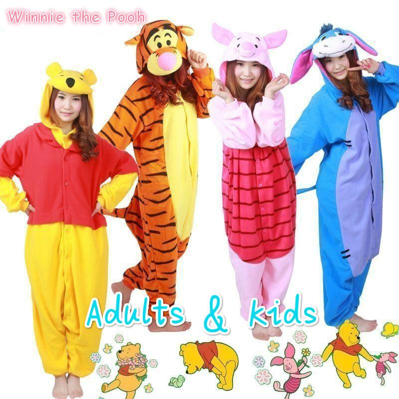 HOT Cute Adult Kids Costume Kigurumi Pajamas Cosplay Poot Onesie Pyjamas Disney  sc 1 st  eBay & HOT Cute Adult Kids Costume Kigurumi Pajamas Cosplay Poot One1sie ...