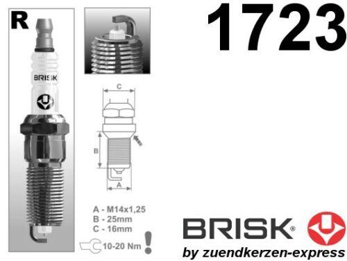 BRISK Silver Racing RR15YS-1 1723 Zündkerzen Benzin LPG CNG Autogas 4 Stück Z-E