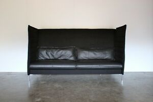 Sublime-Mint-Vitra-Alcove-3-Seat-Highback-Sofa-in-Black-Credo-Fabric-amp-Le