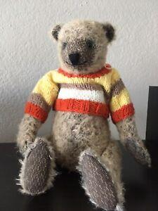 OOAK-Artist-mohair-teddy-bear-handmade-vintage-style-11-5-in