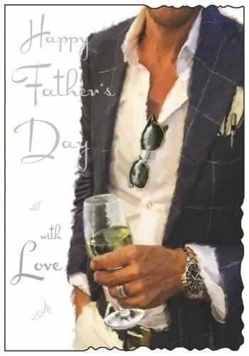 Happy Fathers Day With Love Suit Champagne Design Fathers Day Card Lovely Verse