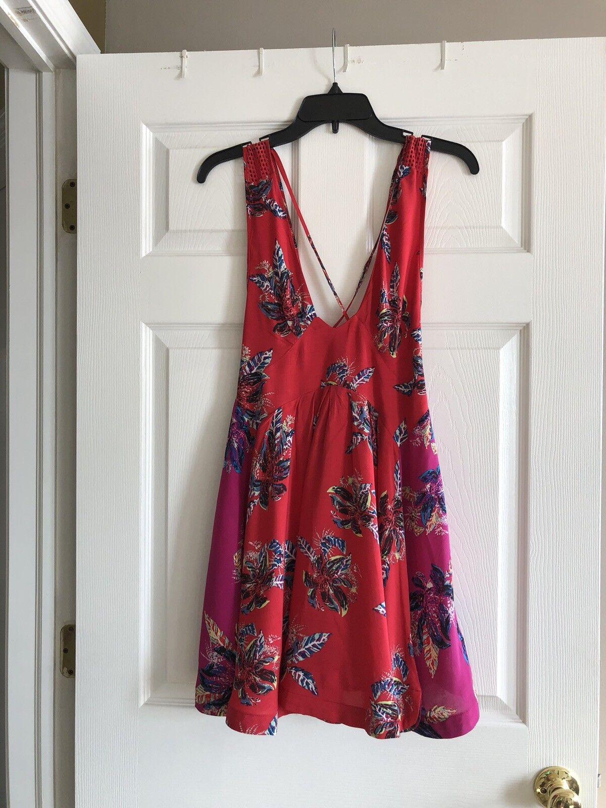 NWT Free People Floral Mini Dress Sz XS